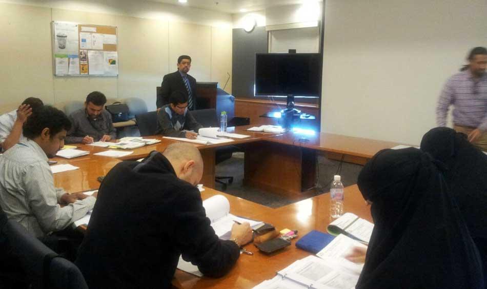 Dr. Shaukat H. Malik is conducting Internal Audit as per ISO/IEC 17025:2005 training course at Saudi Aramco.