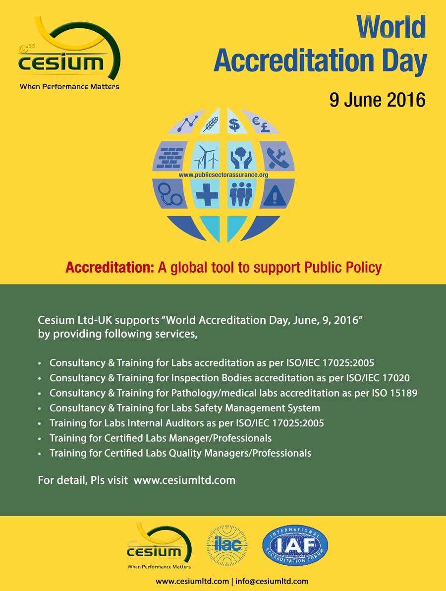 World Accreditation Day : 9th June, 2016